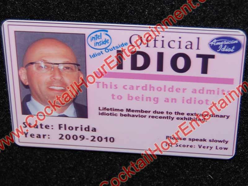 Fantasy Fake I D  Cards: Cocktail Hour Entertainment Florida